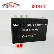 Car digital TV Receiver ISDB-T with 2 video output ,2 antenna, full seg for Brazil Market suit for car dvd player and monitors(China)