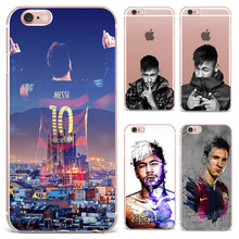 Barcelona Football Super Star Messi Neymar Ronaldo Phone Cases For iPhone 7 7Plus 6 6S Plus 5 5S SE Soft Silicon Case Cover Capa