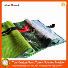 Custom logo printed branded golf Towel For Sports Fitness Golf Tournament Fast Production(China)