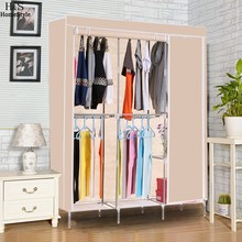 Homdox Non Woven Wardrobe Folding Practical Cloth Cabinet Portable Clothes Storage Rack Closet Clothes Organizer Wardrobe