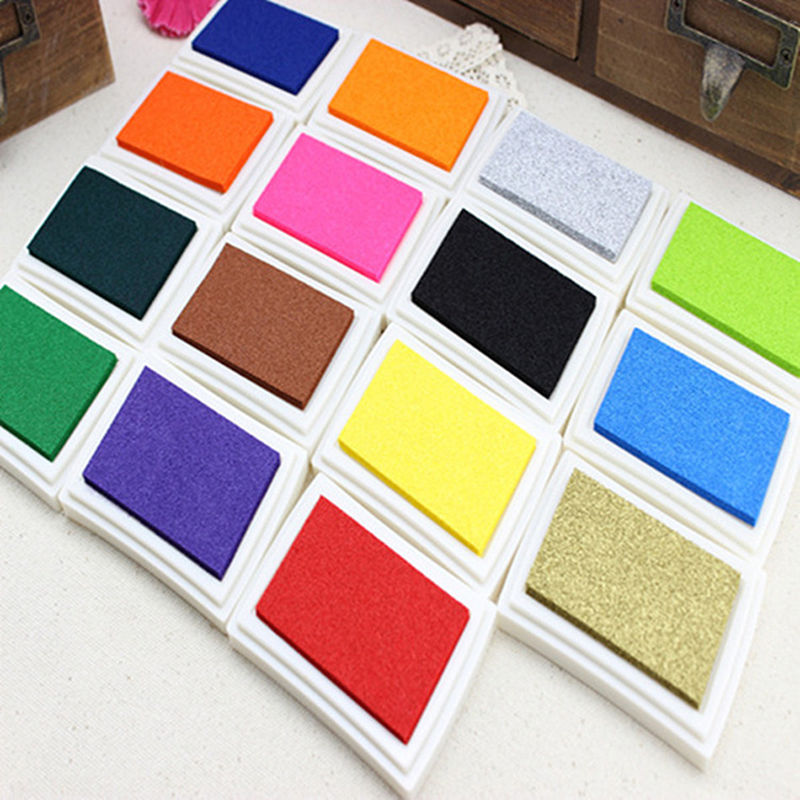 1PCS Child Craft Oil Based DIY Ink Pad for Rubber Stamps Fabric Wood Paper Scrapbooking Inkpad Fingerprint<br><br>Aliexpress