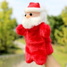 Christmas Gift Infant Baby Santa Claus Plush Hand Puppet Doll Toys Cute Animal Puppet Kids Soft Toys