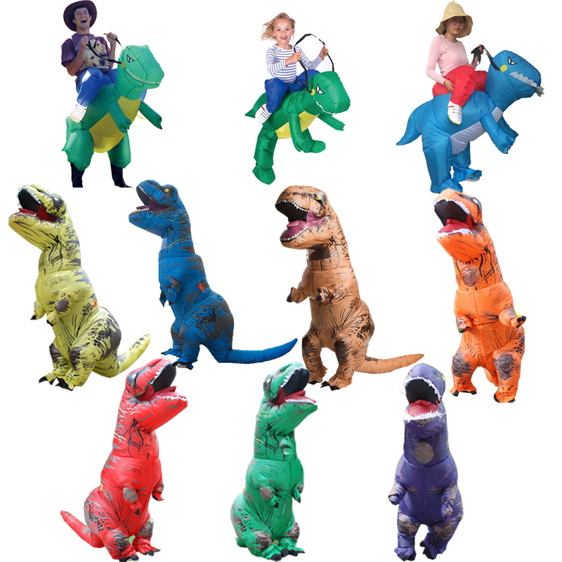 Party Adult t rex Dinosaur Costume Halloween Cosplay Inflatable Dinosaur T REX Blowup Mascot Costumes for Women (2)