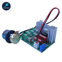 2000W SCR Electronic Voltage Regulator 220V Dimming Dimmer 25A for Lamp Speed Voltage Temperature Control With Fuse(China)