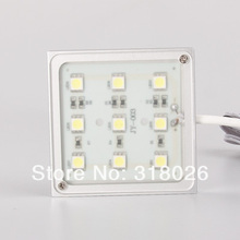 LED Square Show Case Light 12VDC 1.8w Input Accent Lighting Furniture Decorative Display Show Case(Hong Kong)