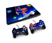 Mario Vinyl Skin Sticker Cover For Sony PS2 Console with 2 Controllers Decal For Playstation 2 Gamepad Joystick Accessories