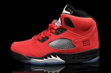 JORDAN Basketball Shoes Retro Red Mens Jordan 5 Breathable Height Increasing Suede Sneakers For Men Shoes(China)