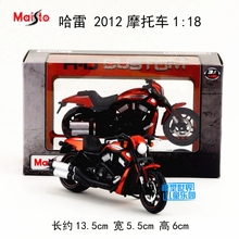 Gift for baby 1pc 1:18 13.5 cm Halley 2012 racing motorcycle collection plastic Alloy Model children boy toy(China)
