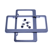 High Quality Front Rear Metal Carbon Fiber USA/Canada License Plate Frame Tag Cover Holder with screws for Auto Truck Vehicles