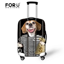 New Brand 6 Styles Dog 18-30 inch Travel Suitcase Luggage Protective Cover With Storage Bag,High Waterproof Baggage Case Cover(China)