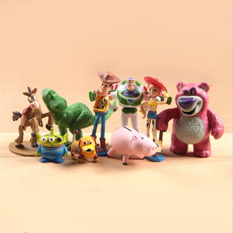 9pcs/lot 5-12cm PVC Toy Story Alien Action Figure Toys, Hot Movie Figure Toys/ Brinquedos, Kids Toys<br><br>Aliexpress