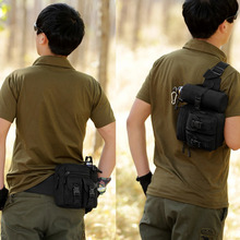 Military Camo Pack Waist Bag Camping Bum With Water Bottle Holder Hiking Water Bag Tactical Backpack Sport Bag Send From US USA(China)