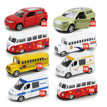 Hot 1:64 scale wheels mini police diecast cars Ambulance Land range Rover school mircro bus T1 metal model pull back toys(China)