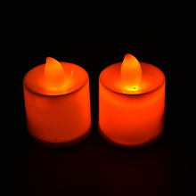 Flameless Candles Amber Decorative Led Electronic Candle Light/Led Tea Lights/Romantic Express Love Home Decor 3Colors 12 PCS