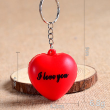 Funny Soft AntiStress Ball Toys Squeeze Heart Shape Ball Stress Relief Relax Novelty Funny Gifts Vent Gag fidget Toy key pendant