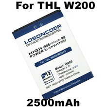 LOSONCOER 2500mAh for THL W200 Battery W200s W200C Phone Battery Free Shipping Online Track(China)
