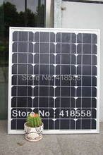 free shipping 80w mono solar panel factory price high quality crystalline solar panel 25 year free maintenance(China)