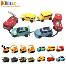 Kitoz Magical Pen Inductive Car Truck Tank Follow Any Drawn Black Line Track Mini Toy Engineer Vehicle Educational Toy for kid