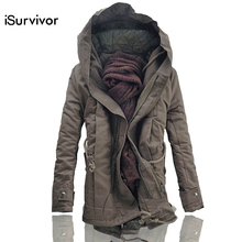 iSurvivor Men Jacket and Coats 2017 Winter Men Warm Coats Fashion Men Jackets Downs Casual Men Thick Outwears Plus Size 4XL 5XL(China)