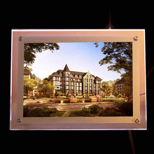 Real Estate Agency Wall Mounted LED Light Pocket Display - A1 Acrylic LED Poster Light Box