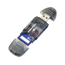 Portable High Speed USB Memory Card Reader Writer Adapter for MMC SD SDHC Card High Quality USB Gadgets