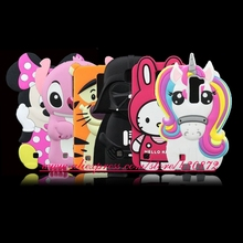 For LG K10 M2 K420N K430DS / Q10 HOT 3D Silicon Unicorn Stitch Darth Vader Kitty Cartoon Style Soft Cell Phone Back Case Cover