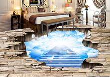 Custom luxury 3d floor painting Beautiful sky 3d wallpaper living room vinyl flooring 3d wallpaper abstract 3d flooring
