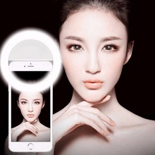 Porable Mini Selfie Ring Light Enhancing Photography Portable Battery Camera Phone Photography for iPhone 6 6Plus Huawei Xiaomi