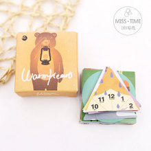 "40 pcs/box MISS TIME ""positive energy""Cartoon stickers DIY album adhesive paper Scrapbook Notebook decoration sticker stationery"