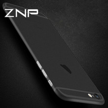 ZNP 0.3mm Ultra Thin Matte Transparent Phone Case For iPhone 6 6S Plus Full Cover Cases For iphone 6S Plus 6 Case Capa Coque(China)