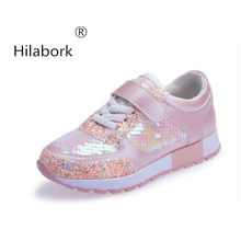 Hilabork 2018 Spring and Autumn new shining flake casual comfort sneakers  boys and girls breathable running 823296799601