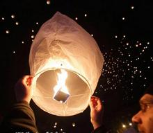 5pcs/lot Chinese Kongming wishing Lantern white flying Sky balloon paper lantern Lamp for Wedding Birthday Party Celebration(China)
