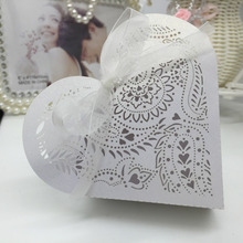 Mini Heart DIY Candy Cookie Gift Box for Party Paper Wedding Candy Boxes Luxury Decoration 20pcs/pack