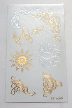 New Body Art Beauty Party Women Makeup Golden decorated Sun Sexy Waterproof Temporary Tattoo Stickers(China)