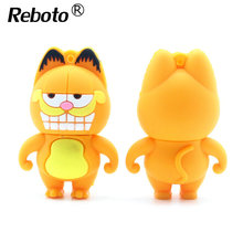 Cartoon pen drive 64gb Garfield usb flash drive 16gb flash memory stick 4gb 8gb 32gb USB2.0 pendrive creative usb stick for gift