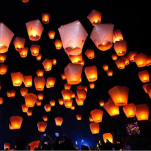2017 Chineses Sky Paper Lanterns Lamps Flying Wishing Lantern Decor For Outdoor Party Decoration Balloon Halloween Christmas