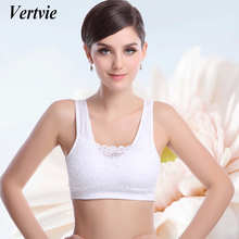 Vertvie Women Yoga Bra Seamless Padded Push Up Bra For Running Jogging Grym Shirts Sexy Lace Crop Top Sports Bra Sportwear Vest(China)
