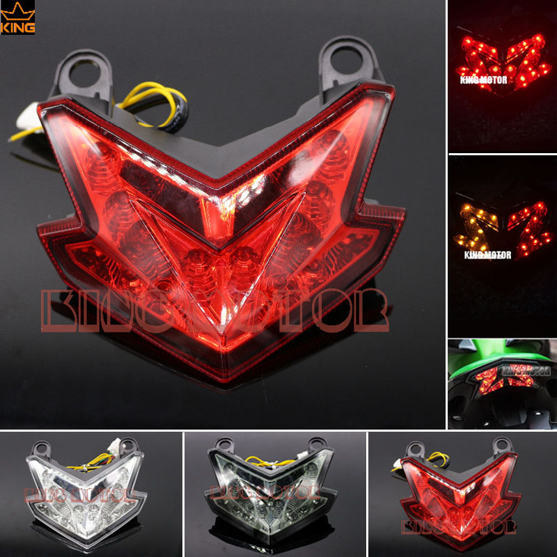 For KAWASAKI NINJA ZX6R ZX-6R Z800 Z 800 2013-2016 Motorcycle Accessories Integrated LED Tail Light Turn signal Blinker Red<br>