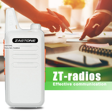 2Pcs/lot Zastone ZT-X6 White 16 channels Walkie Talkie Mini portable Transceiver UHF 400-470 MHz Two Way Ham Radio Walkie Talkie