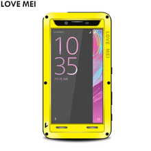 Buy SONY Xperia X Performance 5'' Waterproof Shockproof TPU Case LoveMei Gorilla Toughened Glass Hard Aluminum Metal Cover Cases for $28.12 in AliExpress store