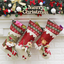 Top Sale Christmas Gifts For Children Christmas Decoration Stockings Cute Candy Bag Christmas Tree Ornaments
