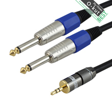 okut Gold plated 3.5 Double track to 6.5 6.35 6.3 mono Audio cable Audio equipment KQ7737