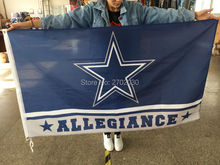 ALLEGIANCE Dallas Cowboys Flag Jerseys World Series 2016 Banner 3ft X 5ft Team Football ALLEGIANCE Fan Dallas Cowboys Flags(China)