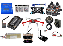 F450 frame+APM2.8 Flight control+6m m8n GPS+B6AC charger+AT9S+700 TVL FPV camera+battery+Mobile phone transmission receiver(China)