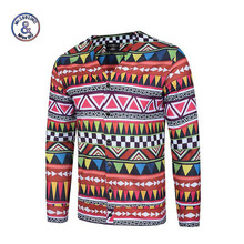 Mr.1991INC Autumn sweater men Geometric Print long sleeve mens sweaters pullover men Clothes casual Clothing Men's Sweatercoats