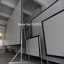 Hot selling 150 4:3 format Fast Quick Fold Projection screen for include front and rear projection screen case(China)