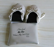 Free shipping ! Cheap big discount roll up shoes for wedding gift, party gift, promotion gift in 11.11 festival(China)