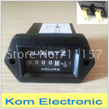 Industrial Excavator Truck Tractor Diesel Engine Hour Meter Counter Rectangular Hourmeter Timer Counter DC 12V 24V AC 220V(China)