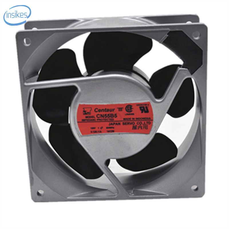 DHL Free CN55B5 AC 100V 0.23A/0.19A 14W/12W 2950RPM 12038 12cm 120*120*38mm 2 Wires 50/60HZ Aluminum Frame Cooling Fan<br>