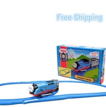 Cartoon Railway Thomas Train Slot Musical Flashing Electric Toys Trains For Kids Educational Learning Tracks Model Toys
